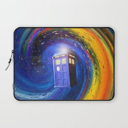 Tardis Doctor Who Fly into Time Vortex Laptop Sleeve