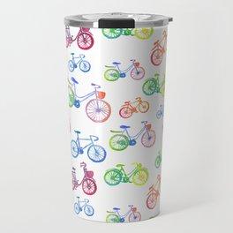 Rainbow bicycles Travel Mug