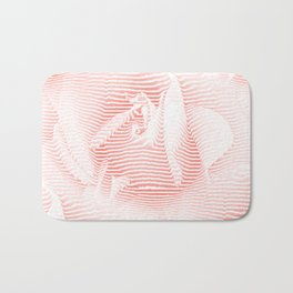Floral coral - Romantic illusion of roses in seamless stripes Bath Mat