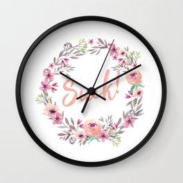 Suck! Wall Clock