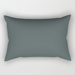 PPG Night Watch Pewter Green Tiny Polka Dots Symmetrical Pattern Solid Color Rectangular Pillow