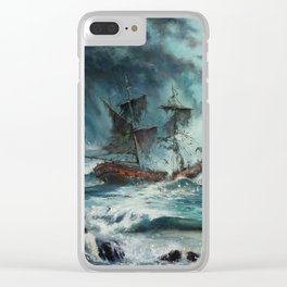 The Sea of Tranquility Clear iPhone Case
