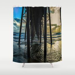 Sky Painting (Oceanside Pier) ~ 10-2015 Shower Curtain