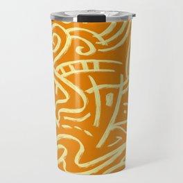 Nomadic Air Orange Abstract Pattern Travel Mug