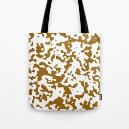 Spots - White and Golden Brown Tote Bag