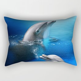 Dolphin Delight Rectangular Pillow