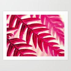 Nature Pattern #1 - Fern (Red Pink) Art Print