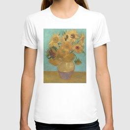 Vincent Willem van Gogh, 1889, Sunflowers / Vase with Twelve Sunflowers, Oil On Canvas Artwork T-shirt