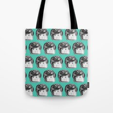 Minifigure Pattern – Teal Tote Bag