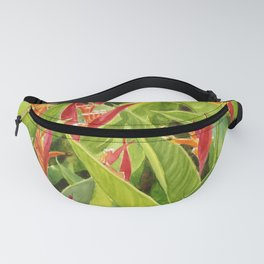 Red and Yellow Parrot Flowers Fanny Pack