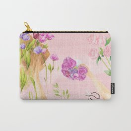 Flower Arranging Watercolor Painting Carry-All Pouch
