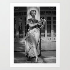 One of the Nine Muses at The Achilleion Palace (ii) Art Print