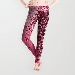 Light Red Sparkling Glitter Dream #1 #shiny #decor #art #society6 Leggings