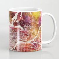 vancouver Mugs featuring Vancouver by MapMapMaps.Watercolors