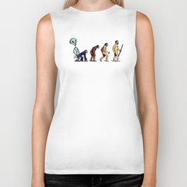 Alien Monkey Evolution Biker Tank