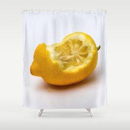 Keep smiling. Half eaten lemon Shower Curtain