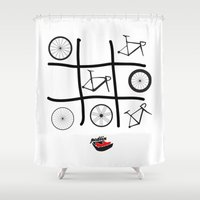 frames Shower Curtains featuring Wheels and Frames by Pedlin