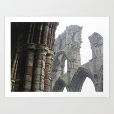 Whitby Abbey in Fog Art Print