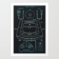 saturn Art Prints featuring Saturn by MeleeNinja