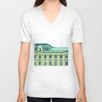 political V-neck T-shirts featuring Political building. by Alejandra Triana Muñoz (Alejandra Sweet
