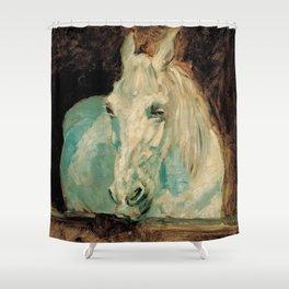 The White Horse Gazelle - Henri Toulouse-Lautrec Shower Curtain