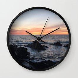 Sunset over Putsborough Wall Clock