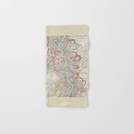 Beautiful Map of the Lower Mississippi River Hand & Bath Towel