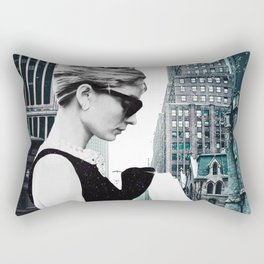 """Photo Montage """"Audrey in The City"""" Rectangular Pillow"""