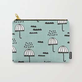London Rain umbrella sky pattern Carry-All Pouch