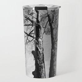 Pair of Trees (Black and White) Travel Mug