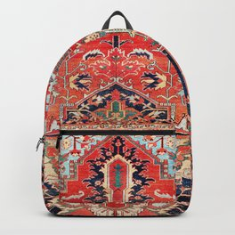 Heriz Azerbaijan Northwest Persian Rug Print Backpack