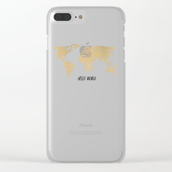 Hello World Clear iPhone Case