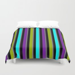 VERTICAL Retro Candy Stripe Duvet Cover
