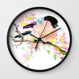 Bullfinch and Spring Wall Clock