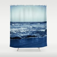 wave Shower Curtains featuring Wave by Michelle McConnell