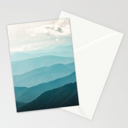 Turquoise Smoky Mountains - Wanderlust Nature Photography Stationery Cards