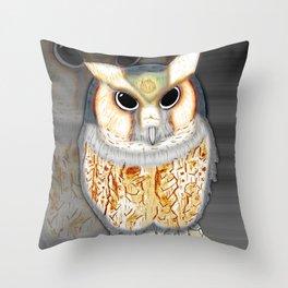 Conceptualized Owl Throw Pillow