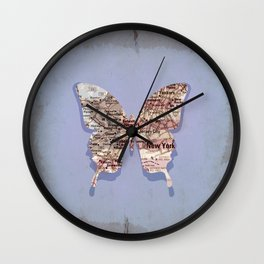 butterfly collection ~ New York Wall Clock