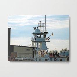Ship passing Marine Operation Metal Print