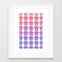 bisexual Framed Art Prints featuring Bisexual Kirby Flag by Defne
