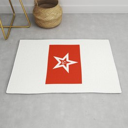 Naval Jack of the Soviet Union and Russia 1950 to 1992. Rug