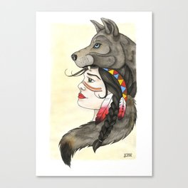 A Wolf's Tail Canvas Print