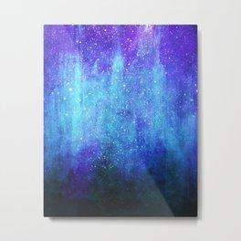 Space Glacier // Blue Purple Nebula Metal Print