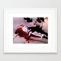 blood Framed Art Prints featuring Blood by Lil Ashton