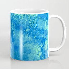 abstract Painting 04 aqua Coffee Mug