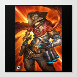 over mccree Canvas Print