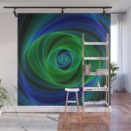Green blue infinity Wall Mural
