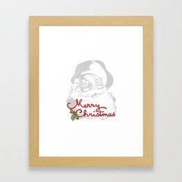 Jolly Santa Merry Christmas Framed Art Print