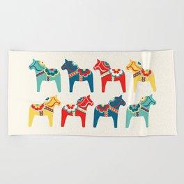 Swedish Horses Beach Towel