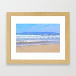 blue waters Framed Art Print